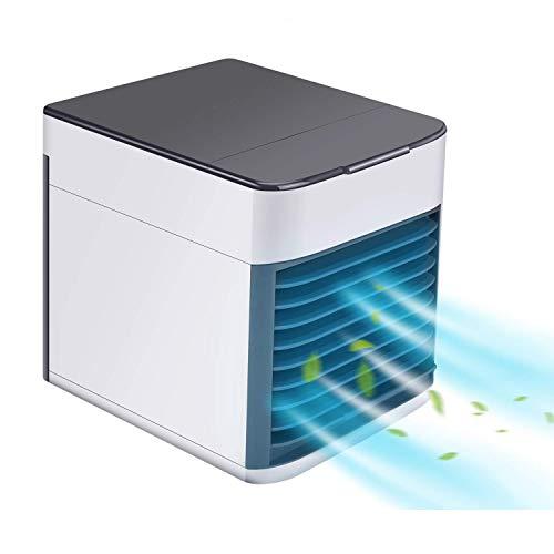 3 In 1 Mobile Klimaanlage, Hisome Persönlicher Mini Klimageräte USB Tragbar Luftkühler Ventilator Luftbefeuchter und Luftreiniger