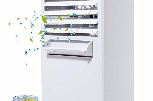 COMLIFE Tragbarer Klimaanlage Nebelventilator Persönlicher Mini Tischventilator 3 Geschwindigkeitsstufen Luftkühler, Luftbefeuchter und Luftreiniger leise 3 in 1 Multifunktion Schutzfunktion