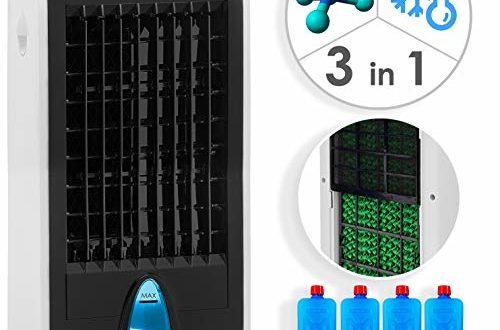 KESSER® 3in1 Mobile Klimaanlage   Klimagerät   Ventilator Klimaanlage   4 L Tank Timer 3 Stufen   Ionisator Luftbefeuchter   Luftkühler   Farbe Weiß/Schwarz
