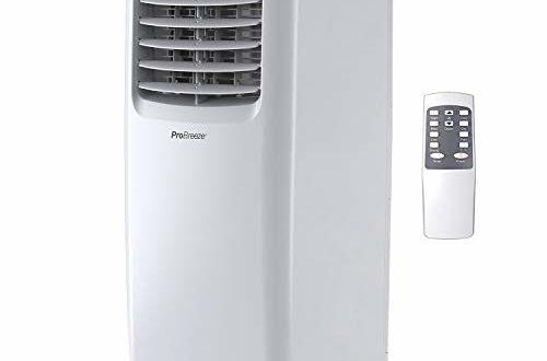 Pro BreezeTM 4-in-1 Mobile Klimaanlage mit 9000 BTU   Luftkühler, Ventilator, Luftentfeuchter, Nachtmodus   Klimagerät mit Energieklasse A, Fensterabdichtung Set, Fernbedienung und 24h Timer