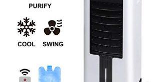Aigostar 3in1 Air Cooler,Mobile Klimaanlage,Luftreiniger,Luftkühlerlüfter,Klima Ventilator mit Fernbedienung,7 Liter Kapazität,3 Geschwindigkeitsstufen(Weiß/Schwarz)